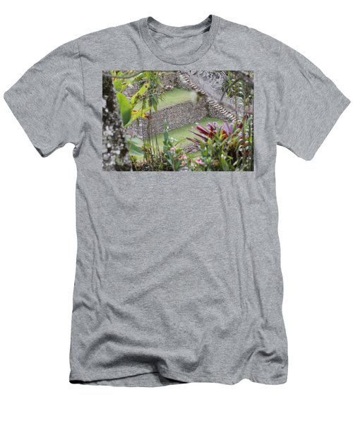 Peeking In At Machu Picchu Men's T-Shirt (Athletic Fit)