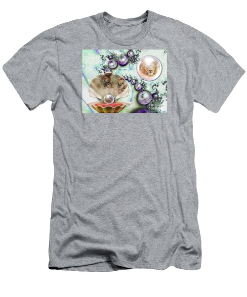 Men's T-Shirt (Slim Fit) featuring the digital art Pearl Of Great Price by Dolores Develde