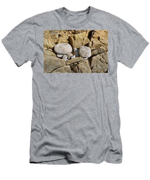 Pebble Pocket Photo Men's T-Shirt (Slim Fit) by Peter J Sucy