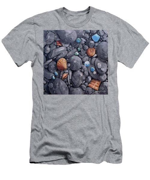 Pebble Soft Moments 1 Men's T-Shirt (Slim Fit) by Mary Hubley