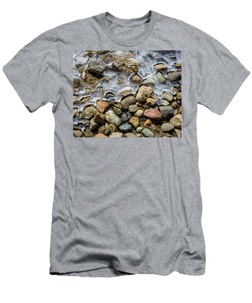 Pebbles And Ice Men's T-Shirt (Athletic Fit)