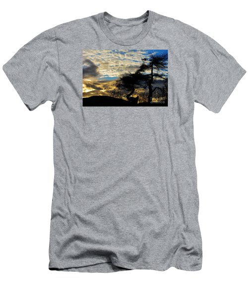 Pebbles Beach Pine Tree Men's T-Shirt (Athletic Fit)