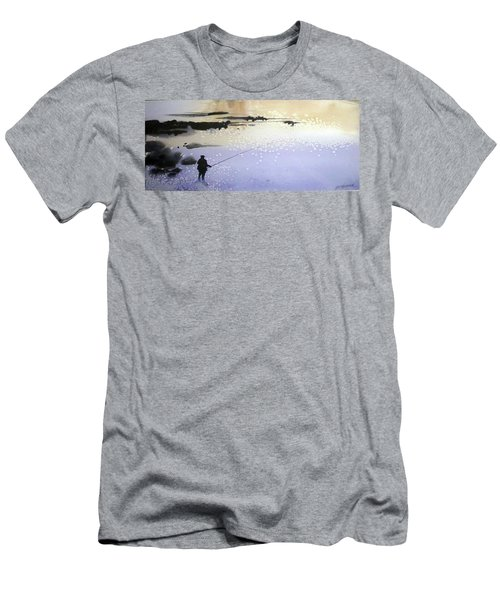 Men's T-Shirt (Slim Fit) featuring the painting Peche by Ed Heaton