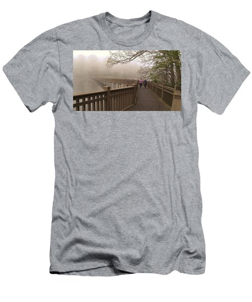Pedestrian Bridge Early Morning Men's T-Shirt (Athletic Fit)
