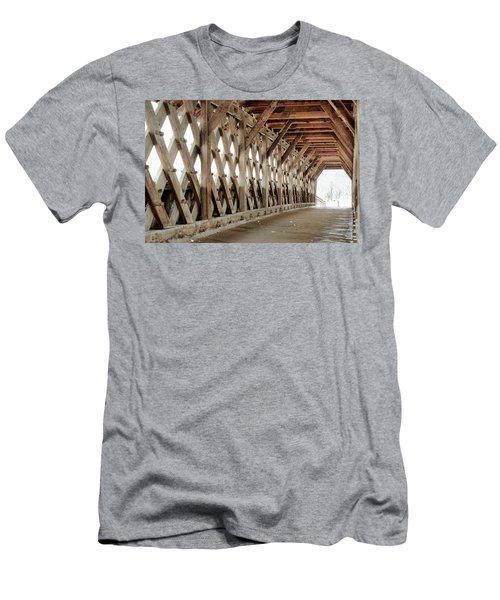 Pedestrian Bridge Guelph Ontario Men's T-Shirt (Athletic Fit)