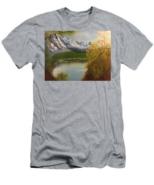 Peek-a-boo Mountain Men's T-Shirt (Slim Fit) by Thomas Janos