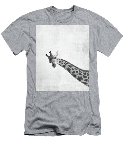 Peekaboo Giraffe Men's T-Shirt (Athletic Fit)