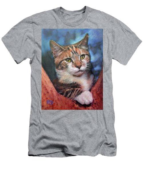 Peekaboo Tabby Men's T-Shirt (Athletic Fit)