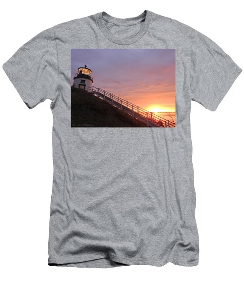 Peeking Sunrise Men's T-Shirt (Athletic Fit)