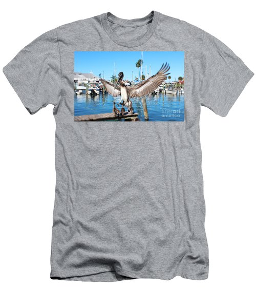 Pelican Flying In Men's T-Shirt (Athletic Fit)