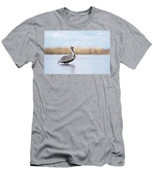 Pelican In Paradise Men's T-Shirt (Athletic Fit)