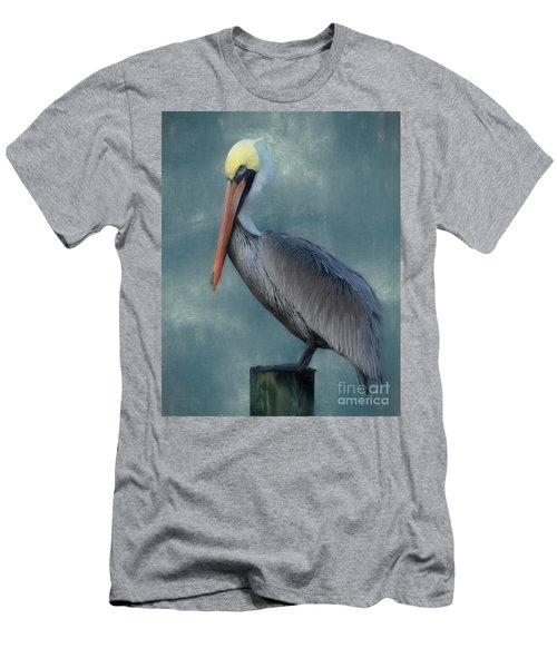 Men's T-Shirt (Slim Fit) featuring the photograph Pelican Portrait by Benanne Stiens