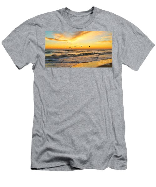 Pelicans At Sunrise  Signed 4651b 2  Men's T-Shirt (Athletic Fit)