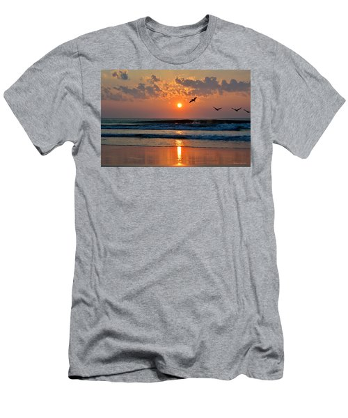 Pelicans On The Move Men's T-Shirt (Athletic Fit)