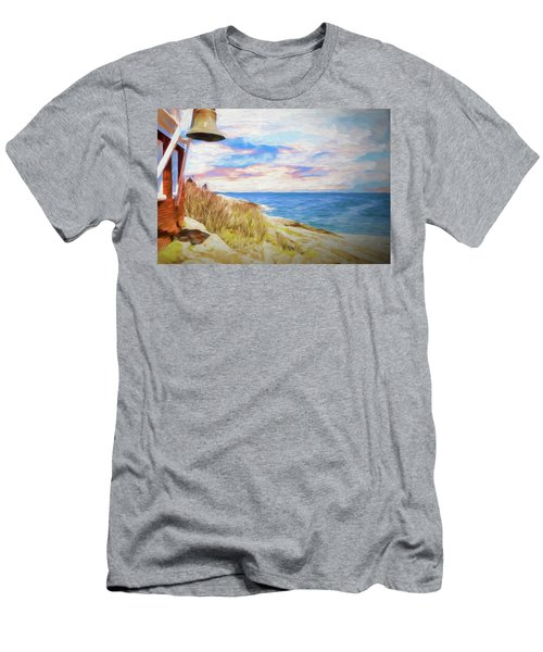 Pemaquid Lighthouse Bell On Maine Rocky Coast. Men's T-Shirt (Athletic Fit)