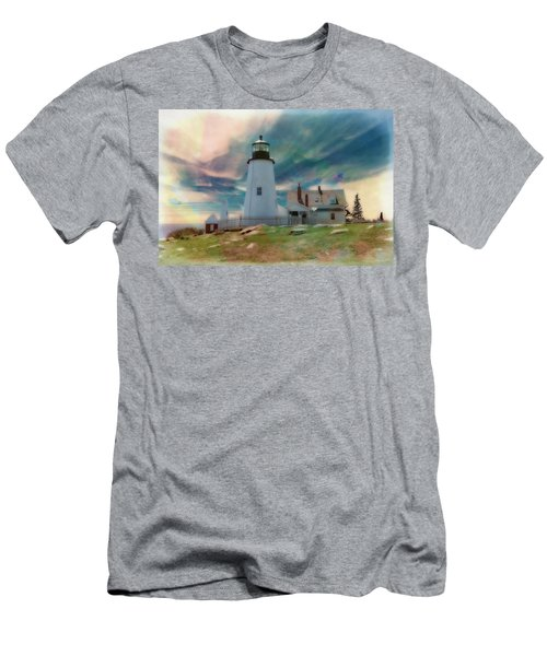 Pemaquid Lighthouse,maine Men's T-Shirt (Athletic Fit)