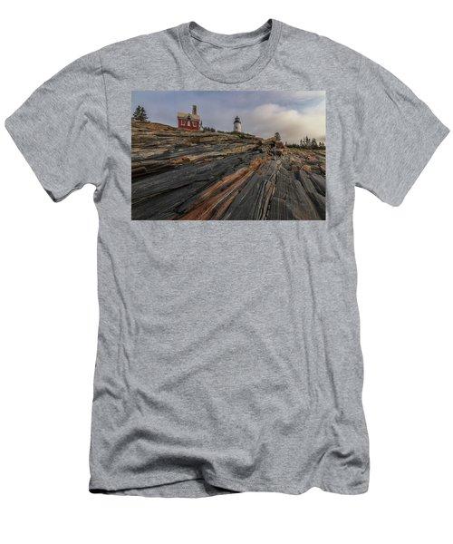 Pemaquid Point Cliffs Men's T-Shirt (Athletic Fit)