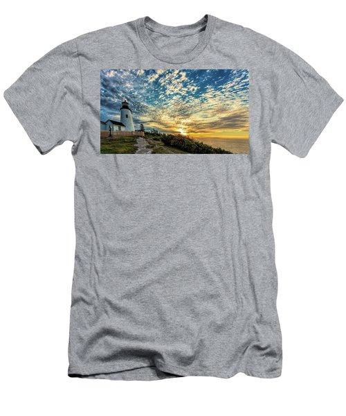 Pemaquid Point Lighthouse At Daybreak Men's T-Shirt (Athletic Fit)