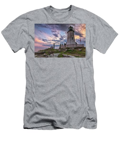 Pemaquid Point Lighthouse At Sundown Men's T-Shirt (Athletic Fit)