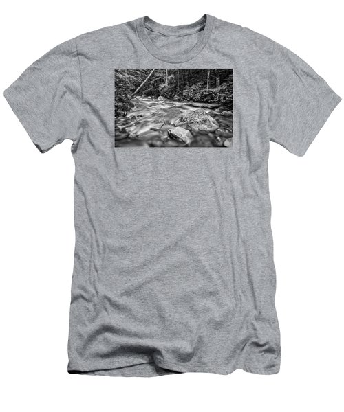Pemi River Black-white Men's T-Shirt (Slim Fit) by Michael Hubley