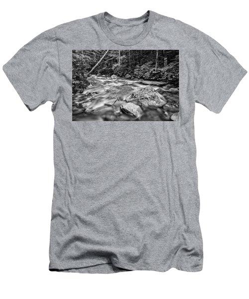 Pemi River Black-white Men's T-Shirt (Athletic Fit)