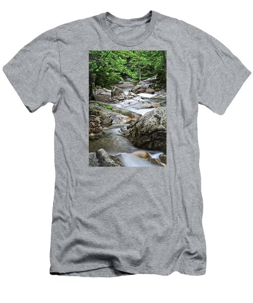 Pemigewasset River Nh Men's T-Shirt (Slim Fit) by Michael Hubley