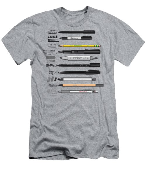 Pen Collection For Sketching And Drawing Men's T-Shirt (Athletic Fit)