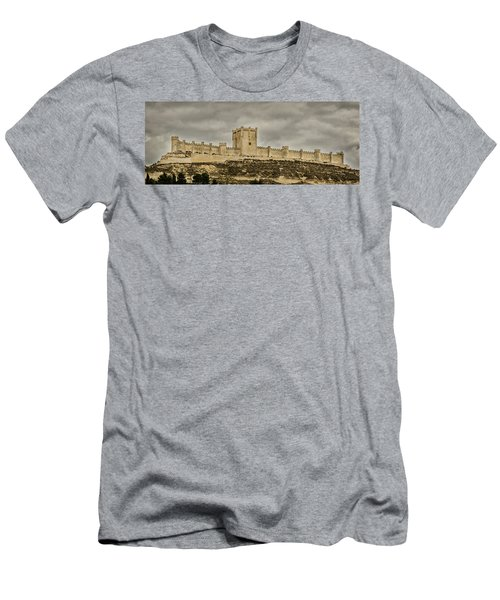 Penafiel Castle, Spain. Men's T-Shirt (Athletic Fit)
