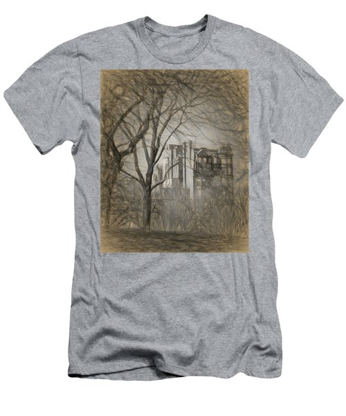 Pencil Sketch Of Beacon Hill Men's T-Shirt (Athletic Fit)