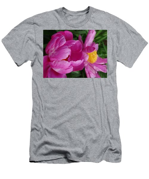 Peonies In Pink Men's T-Shirt (Slim Fit) by Rebecca Overton