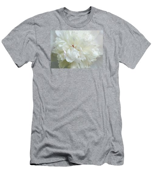 Peony In White Men's T-Shirt (Athletic Fit)