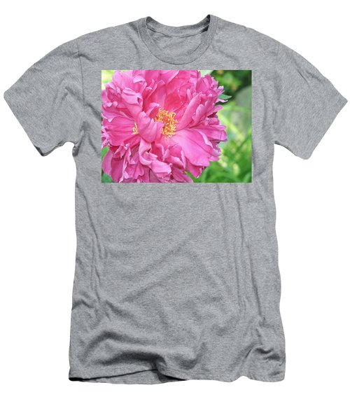 Men's T-Shirt (Athletic Fit) featuring the photograph Peony Perfection by Lynda Lehmann