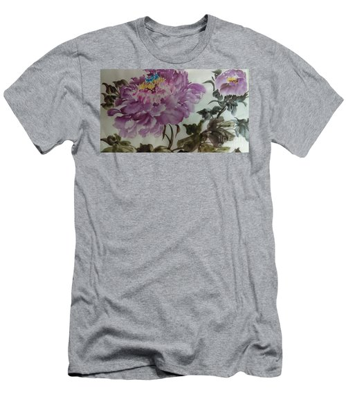Peony20170213_1 Men's T-Shirt (Slim Fit) by Dongling Sun