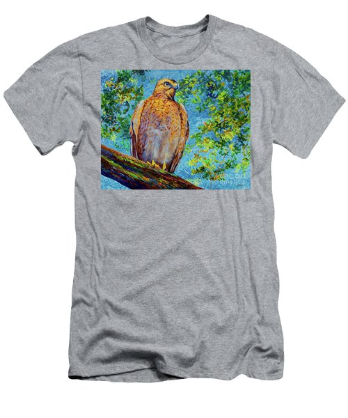 Perched Hawk Men's T-Shirt (Athletic Fit)