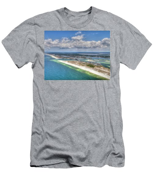 Men's T-Shirt (Athletic Fit) featuring the photograph Perdido Pass Aerial 3029 by Gulf Coast Aerials -