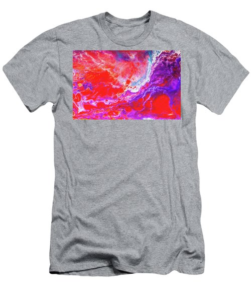 Perfect Love Storm - Colorful Abstract Painting Men's T-Shirt (Slim Fit) by Modern Art Prints