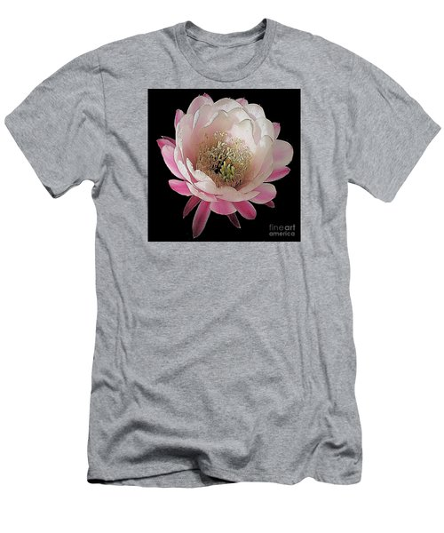 Perfect Pink And White Cactus Flower Men's T-Shirt (Slim Fit) by Merton Allen