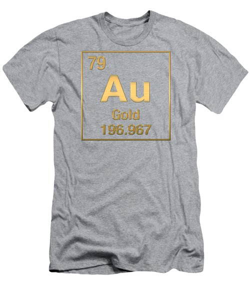 Periodic Table Of Elements - Gold - Au - Gold On Gold Men's T-Shirt (Athletic Fit)