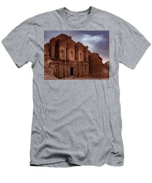 Petra's Monastery Men's T-Shirt (Athletic Fit)