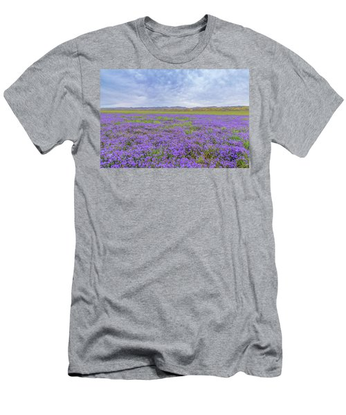 Men's T-Shirt (Slim Fit) featuring the photograph Phacelia Field by Marc Crumpler