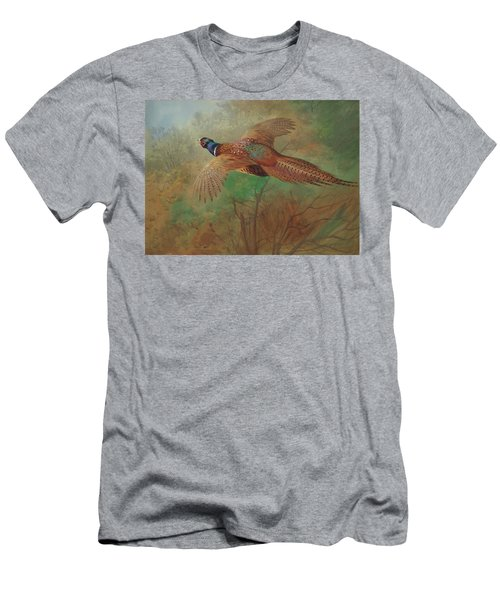 Pheasant In Flight Men's T-Shirt (Athletic Fit)