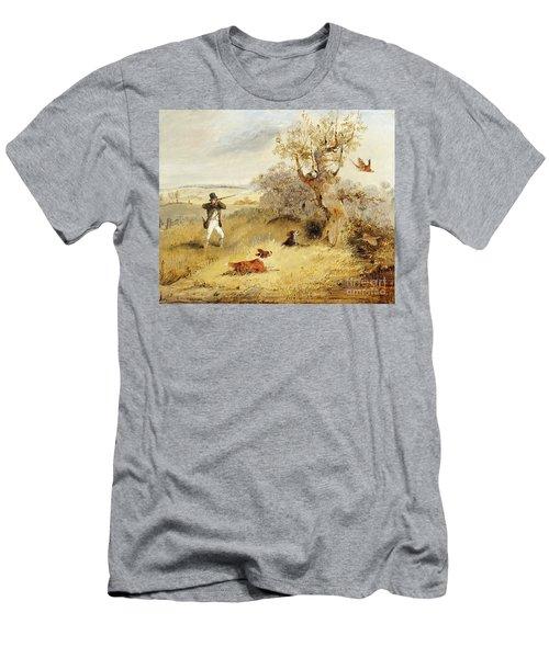 Pheasant Shooting Men's T-Shirt (Athletic Fit)