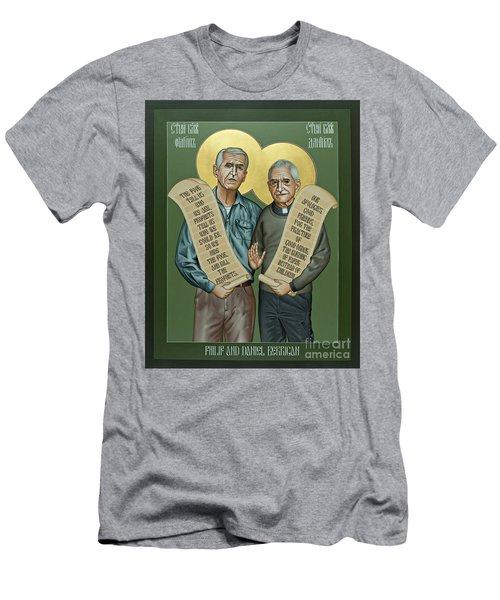 Philip And Daniel Berrigan Men's T-Shirt (Athletic Fit)