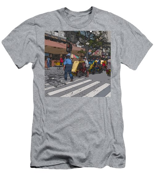 Philippines 906 Crosswalk Men's T-Shirt (Athletic Fit)