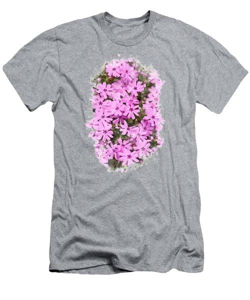 Phlox Flowers Watercolor Art Men's T-Shirt (Athletic Fit)