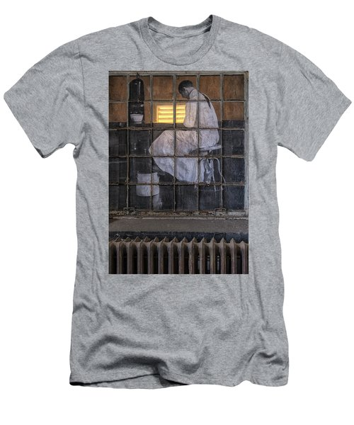 Men's T-Shirt (Athletic Fit) featuring the photograph Physician In The Window by Tom Singleton