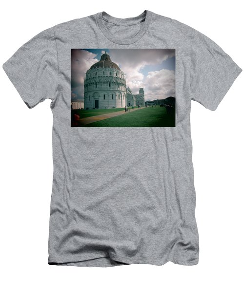 Men's T-Shirt (Slim Fit) featuring the photograph Piazza In Piza by Christin Brodie