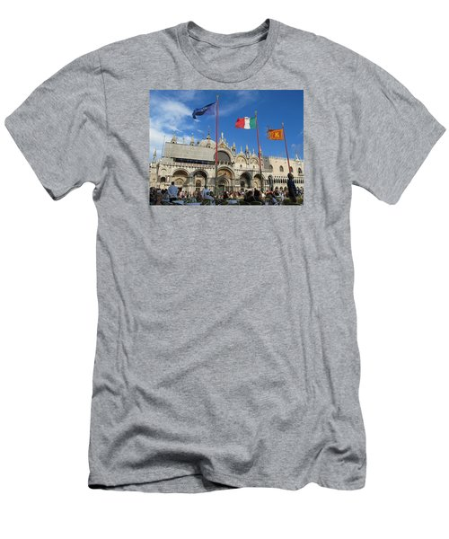 Piazza San Marco Venice Men's T-Shirt (Slim Fit) by Lisa Boyd