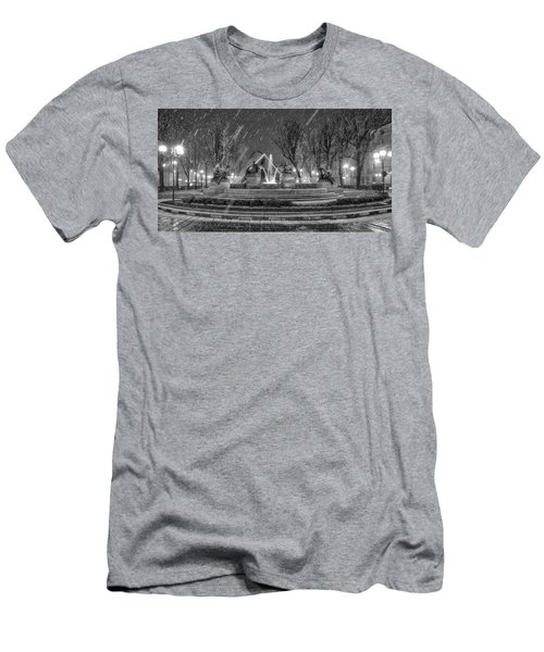 Men's T-Shirt (Slim Fit) featuring the photograph Piazza Solferino In Winter-1 by Sonny Marcyan