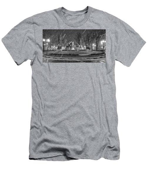 Piazza Solferino In Winter-1 Men's T-Shirt (Athletic Fit)